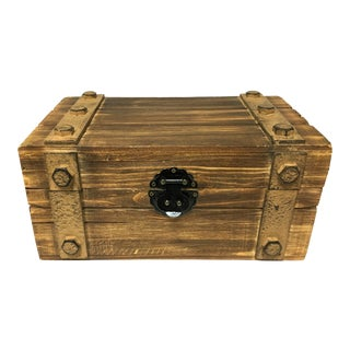 Wooden Box With Metal Decor Storage Box For Sale
