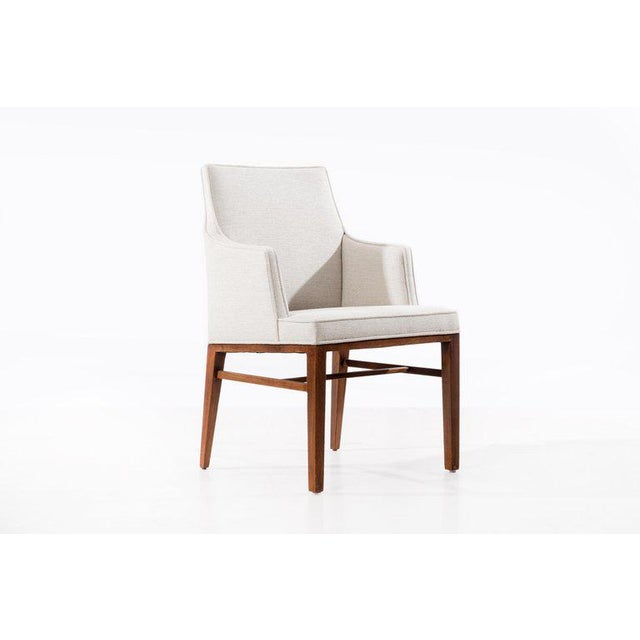 White Edward Wormley Set of Six Dining Chairs For Sale - Image 8 of 13