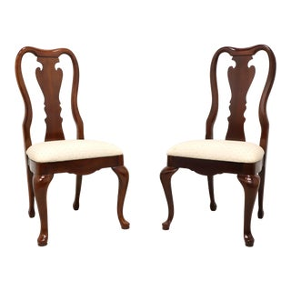 Thomasville Collectors Cherry 831 Queen Anne Dining Side Chairs - Pair B For Sale
