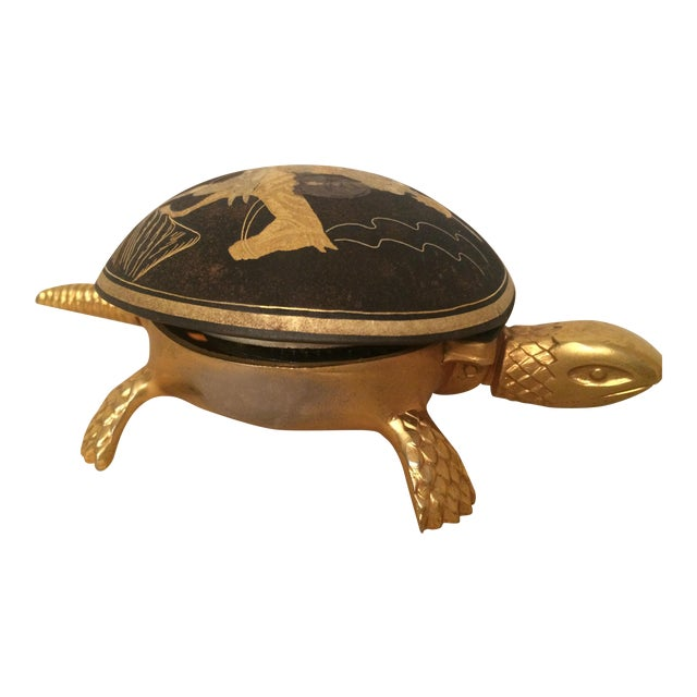 Brass Turtle Hotel Desk Bell - Image 1 of 5