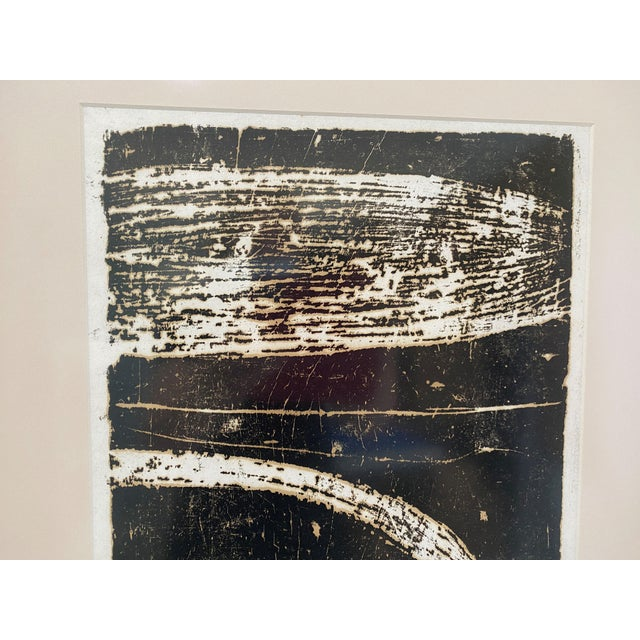 """Mid-Century Modern Space Age Wood Block Print """"Away From the Earth"""" 2/20 by Chin Sung (Qin Song). Evokes the mid-century..."""