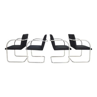 Mies Van Der Rohe Tubular Brno Chairs by Knoll - Set of 4 For Sale