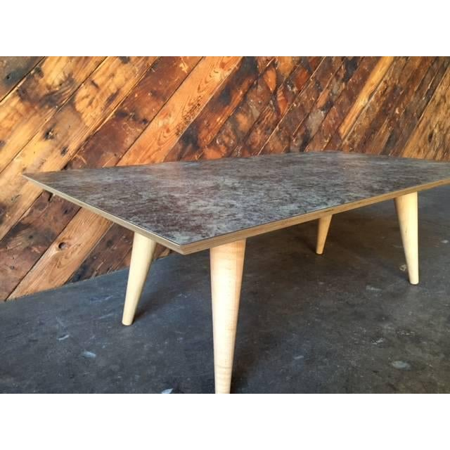 Contemporary Mid-Century Style Formica Coffee Table - Image 6 of 7