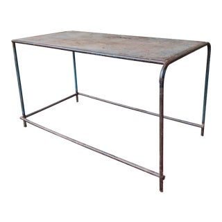 Vintage Metal Shop Table For Sale