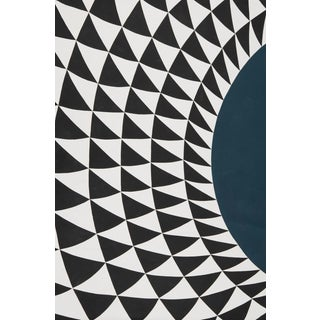 Schumacher Patterson Flynn Martin Astraire Hand Stiched Leather Geometric Rug For Sale