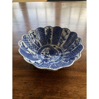 Blue and White Scalloped Bowl Preview