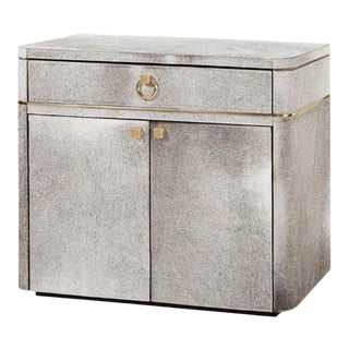 Bungalow 5 Andre Cabinet, Gray Hair-On-Hide With Micro-Suede Interior For Sale