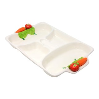 Vintage Japanese Tomato and Carrot Snack Platter For Sale
