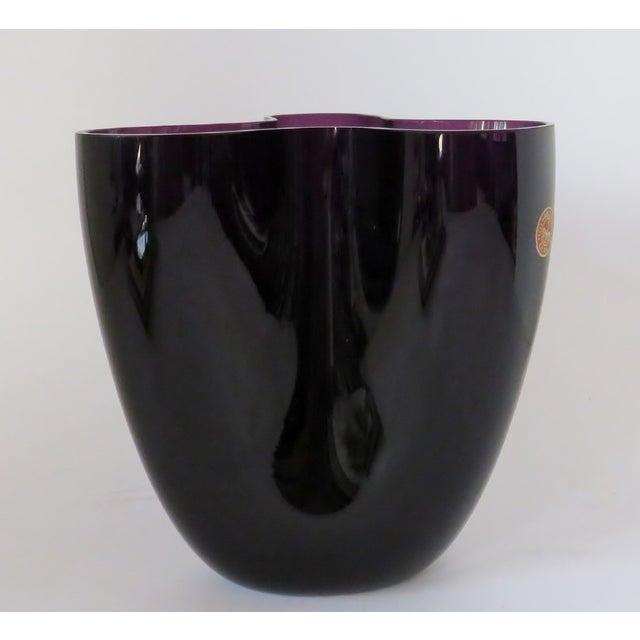 Danish Modern Per Lütken Purple Glass Vase For Sale - Image 3 of 10