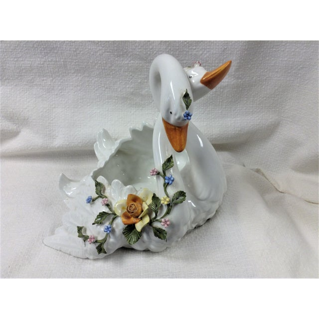 Capodimonte Capodimonte Entwined Swans - A Pair For Sale - Image 4 of 8