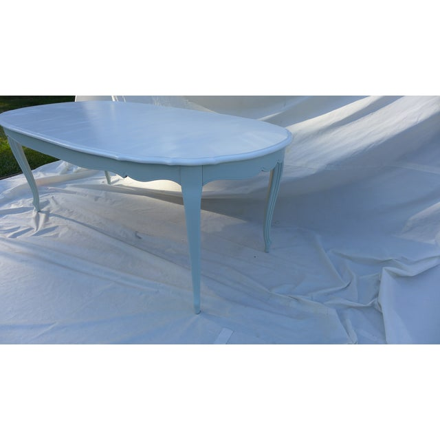 French Style Costal Living Oval Dining Table - Image 4 of 8