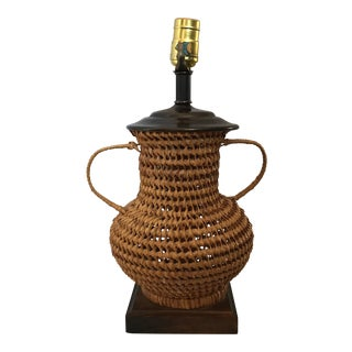 Wicker Lamp For Sale