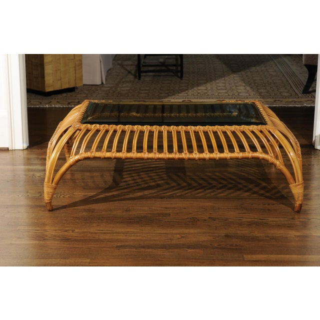 Brown Unique Restored Tiara Coffee Table by Henry Olko for Willow and Reed, Circa 1979 For Sale - Image 8 of 13