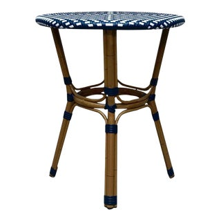 Bentwood Wicker Side Accent Table For Sale