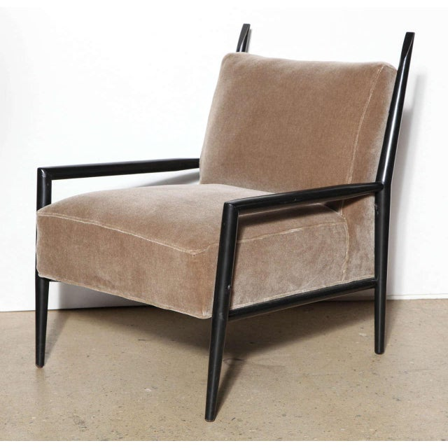 Early Paul McCobb Planner Group for Winchendon Furniture 3082E black club chair. Featuring an ebonized Black wood frame...