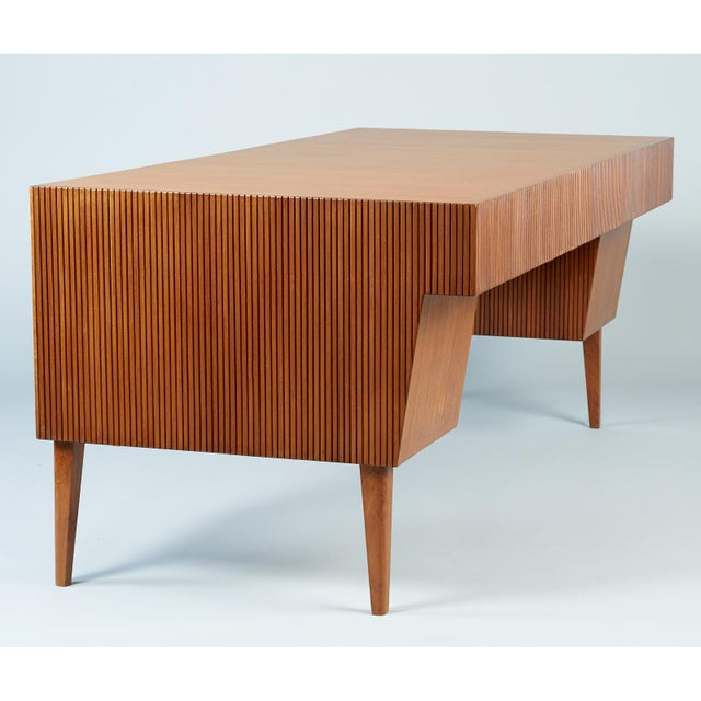 1950s Mid-Century Modern Gio Ponti Monumental Desk and Chair Set - 2 Pieces For Sale In New York - Image 6 of 11