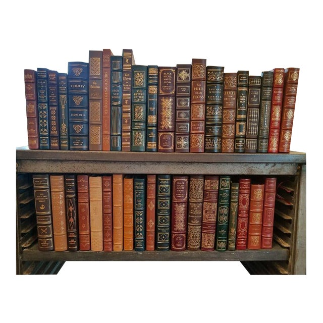 Collection of Franklin/Eaton Vintage Leather Books - Set of 40 For Sale