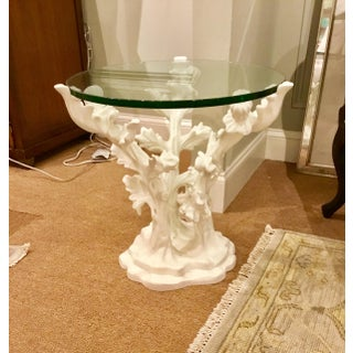 Global Views Traditional White Bloom Table Preview