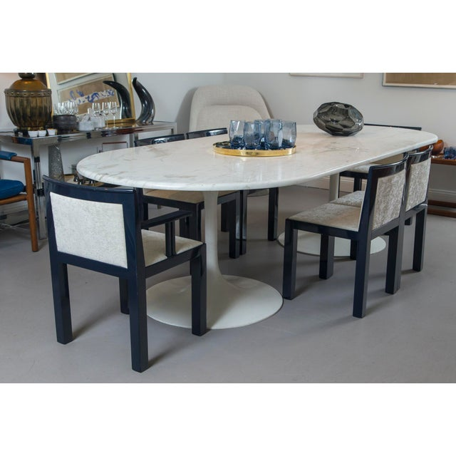 White 20th Century Mid-Century Tulip Dining Table For Sale - Image 8 of 9