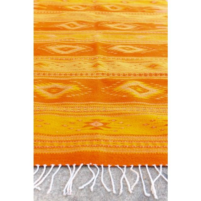 Orange & Yellow Southwestern Wool Rug - 3′6″ × 6′ - Image 4 of 4
