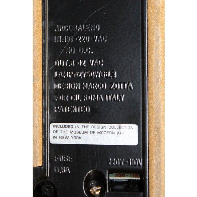 Black 1970s, Italy Marco Zotta Mid-Century Modern Arcobaleno Halogen Black Desk Lamp For Sale - Image 8 of 9