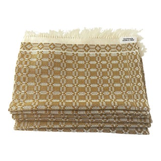 1970s Vintage Handwoven Artisan Placemats - Set of 6 For Sale