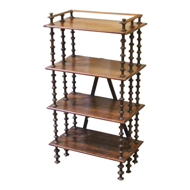 Late 19th Century. Antique Rustic Folk Art Wooden Spool Shelves For Sale