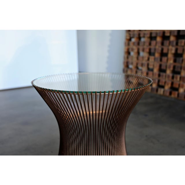 Metal 1965 Warren Platner for Knoll Copper Occasional Table For Sale - Image 7 of 9