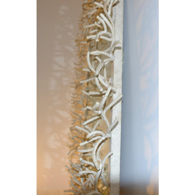 Faux-Coral Wall Mirror For Sale - Image 4 of 6
