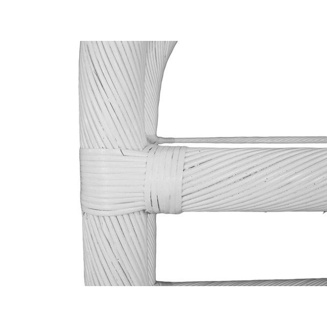 White Lacquered Rattan Étagères - A Pair - Image 6 of 6