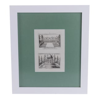 Early 19th Century Antique Queen's Palace Framed Engraving Print For Sale