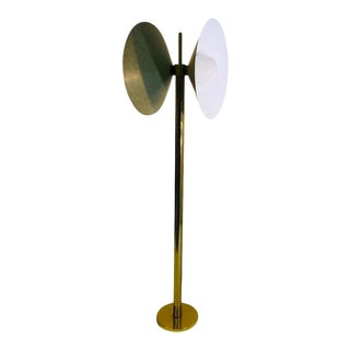 Exceptional Brass Floor Lamp With Unusual Design by Koch and Lowy For Sale