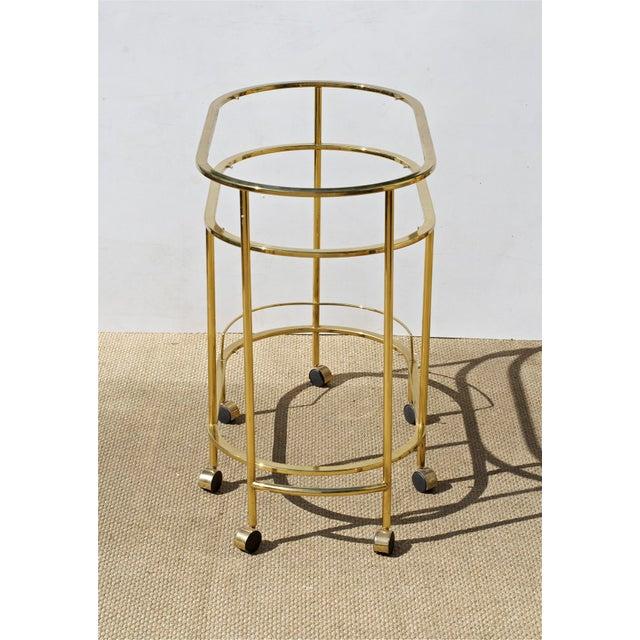 Brass & Glass Bar Cart - Image 8 of 9