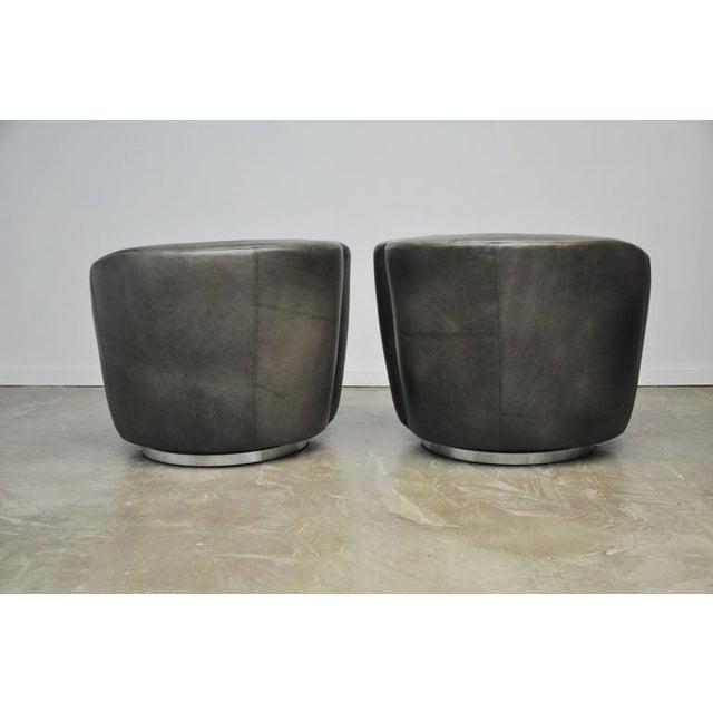 Animal Skin Vladimir Kagan Nautilus Swivel Chairs For Sale - Image 7 of 7