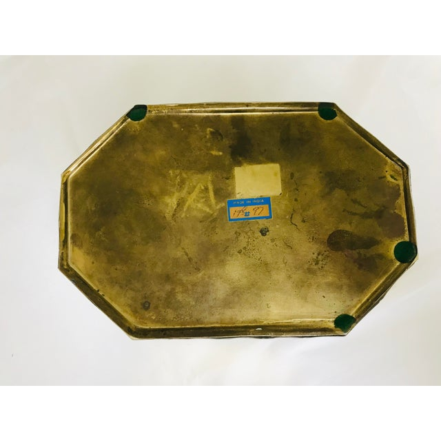 1960s Asian Faux Bamboo Decorative Brass Box For Sale In Saint Louis - Image 6 of 8