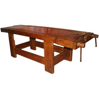 1920s Italian Carpenter's Bench For Sale