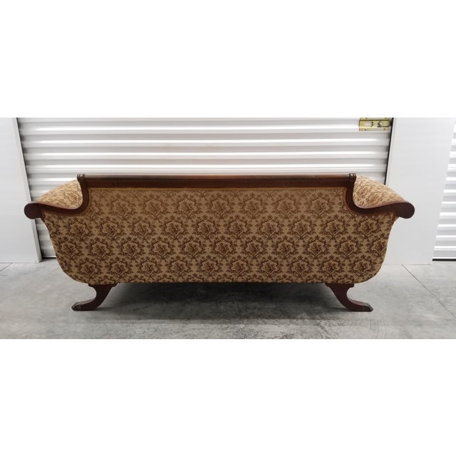 Hollywood Regency Early 20th Century Vintage Suggs & Hardin Hickory NC Sofa For Sale - Image 3 of 12