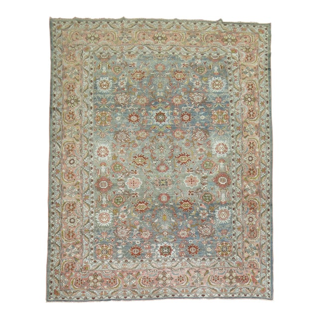 Antique Malayer Rug, 9' X 11'8'' For Sale