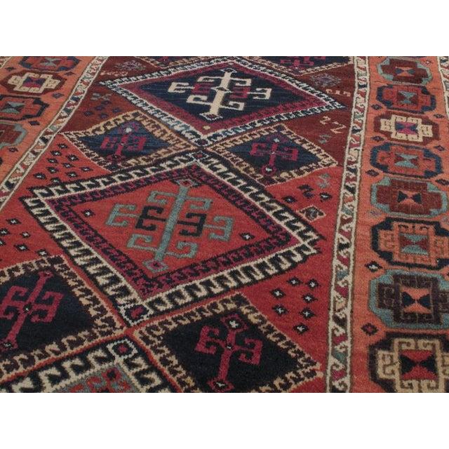Kurdish Tribe Antique Kurdish Long Rug For Sale - Image 4 of 9