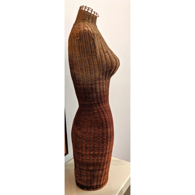 Gabriella Crespi 1950s Boho Chic Wicker Sculptural Mannequin For Sale - Image 4 of 6