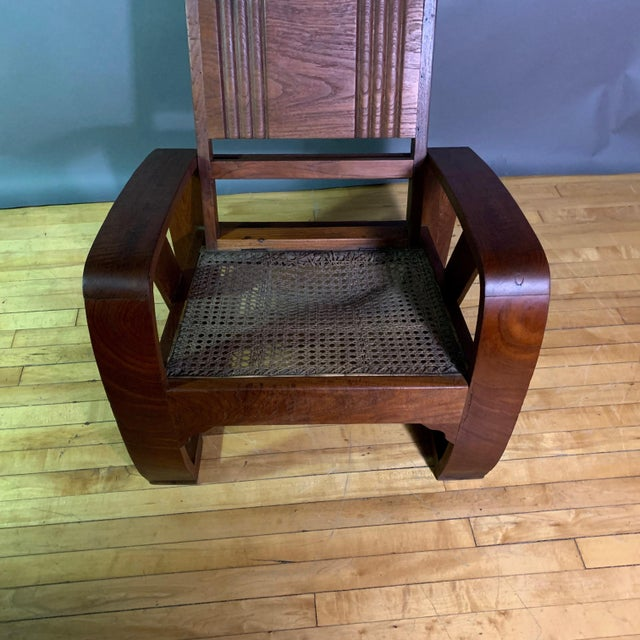 1930s Solid Teak Veranda Chair, Danish Colonial Indonesia For Sale - Image 10 of 11