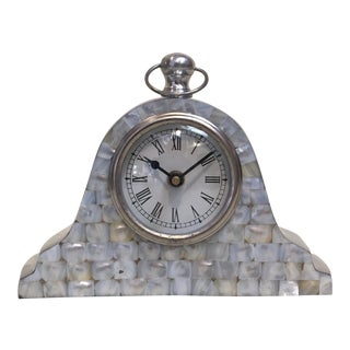 Mother of Pearl Mantle Clock