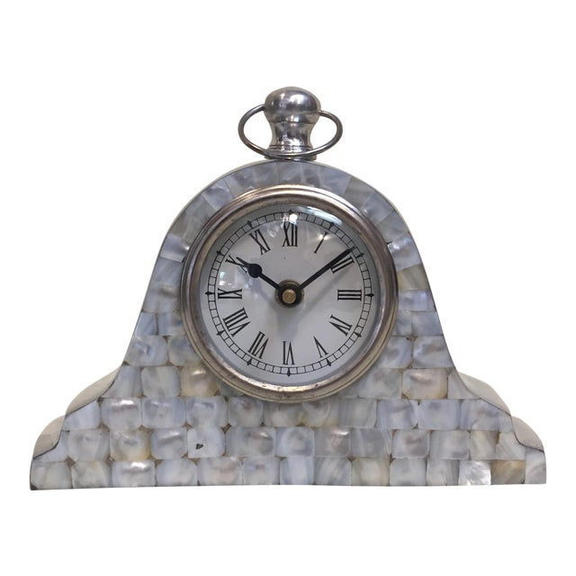 Mother of Pearl Mantle Clock For Sale