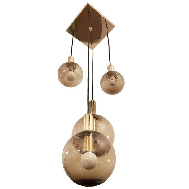 1970s Raak Dutch Smoked Glass Globe Ceiling Light For Sale - Image 10 of 10