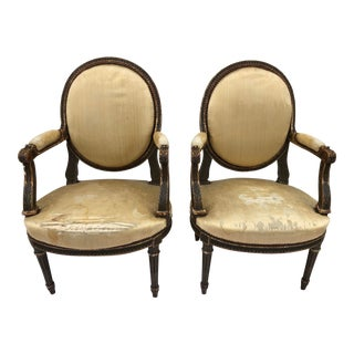 19th Century Antique French Louis Side Chairs- A Pair For Sale