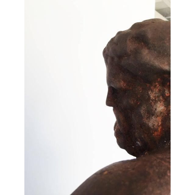Italian Serpentine Figure of the Farnese Hercules For Sale - Image 9 of 10