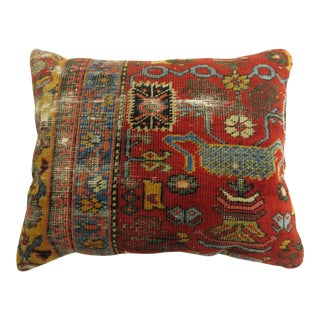 Antique Farahan Rug Pillow For Sale