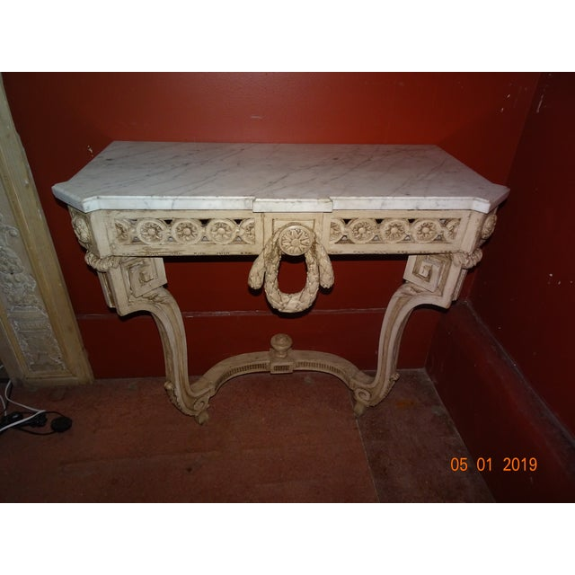 19th Century French Console With Marble Top For Sale - Image 12 of 12