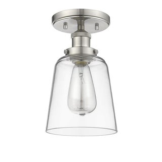Decatur 1 Ligh Semi-Flush Ceiling, Satin Nickel For Sale