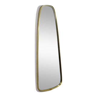 1960s Mid-Century Modern La Barge Oval Wall Mirror For Sale
